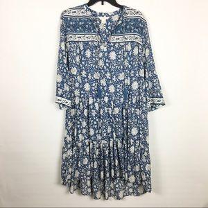 H&M boho floral flowy dress 4